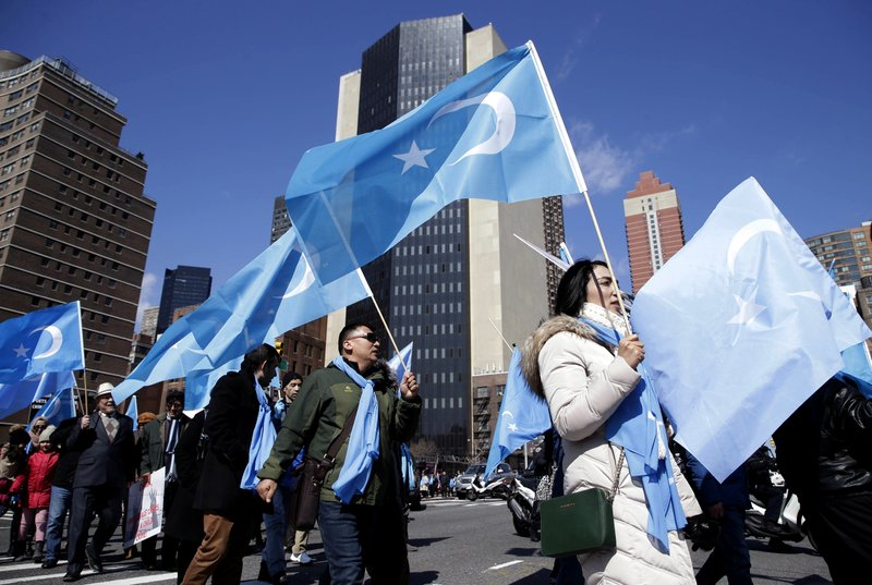 海外維吾爾人支持東突厥獨立(新疆獨立)。圖片來源:Associated Press