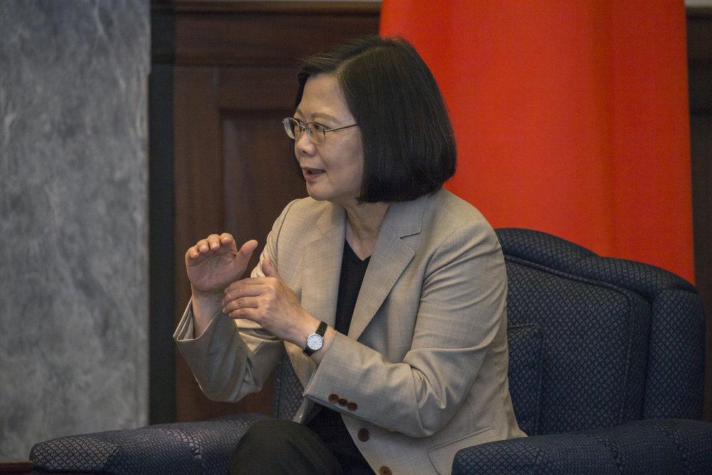總統蔡英文主張「台灣仍要走向世界」。圖片來源:中華民國總統府/Flickr