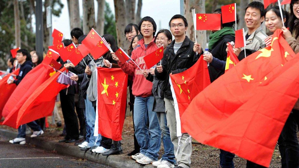 中共煽動中國民族主義的力道增強。圖片來源:中國環球電視網