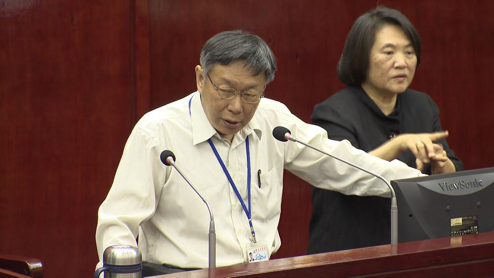 柯文哲嗆蔡英文被陳菊跟新潮流掌控。圖片提供:民視新聞
