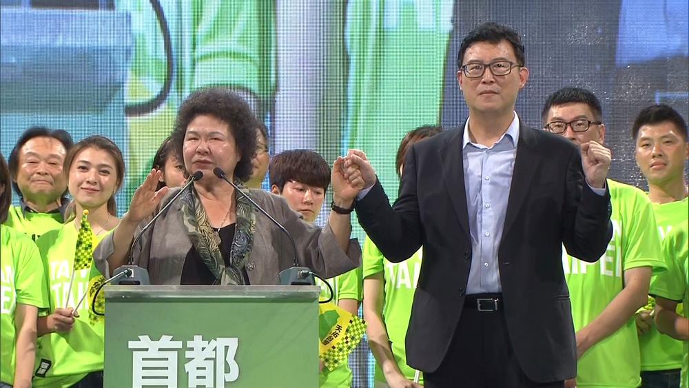 民進黨台北市長參選人姚文智嗆柯文哲「滿腦都是政治」。圖片提供:民視新聞