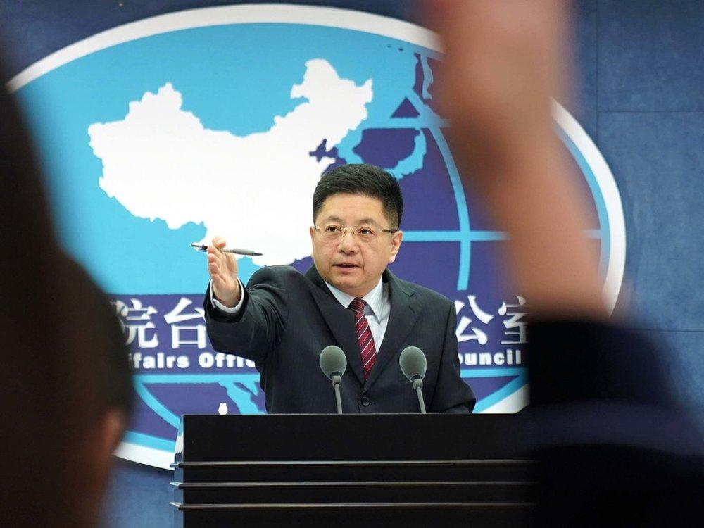 中國國台辦發言人馬曉光批評總統蔡英文「不自量力」。圖片來源:新華通訊社