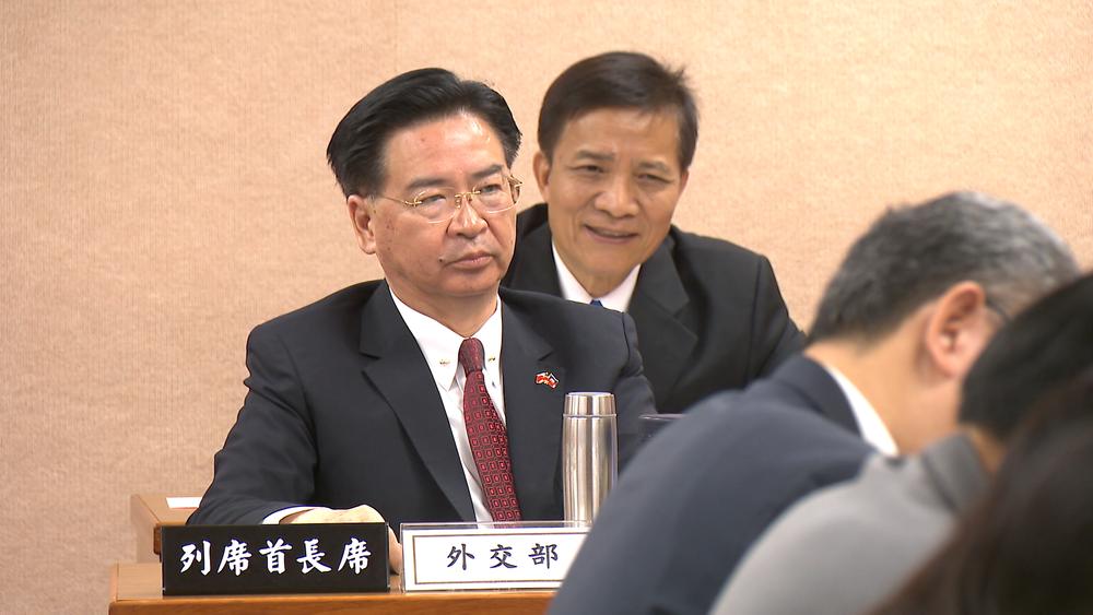 外交部長吳釗燮接受日媒《產經新聞》專訪。圖片提供:民視新聞