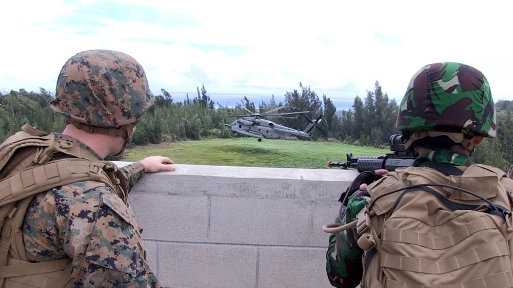 美國擬派海軍陸戰隊進駐AIT。圖片提供:民視新聞
