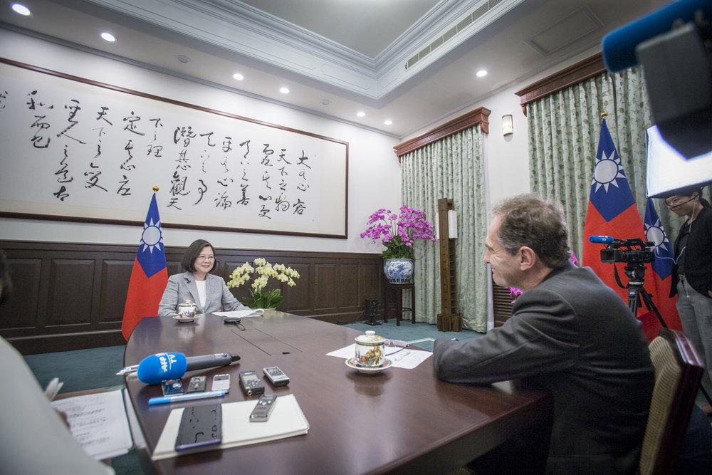 總統蔡英文呼籲國際對抗中國霸權。圖片來源:中華民國總統府/Flickr