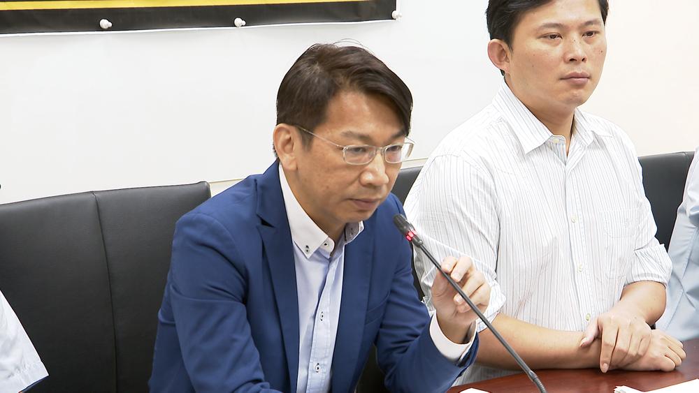 時代力量立委徐永明揭發疑似彰銀弊案。圖片提供:民視新聞