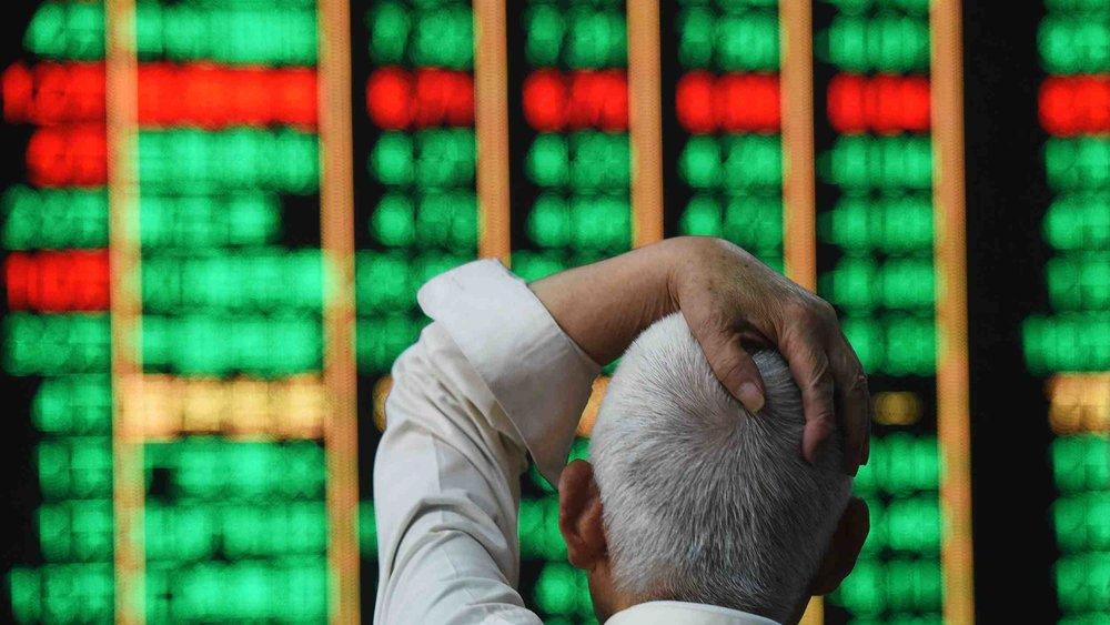 中國股市近期大跌。圖片來源:中國環球電視網