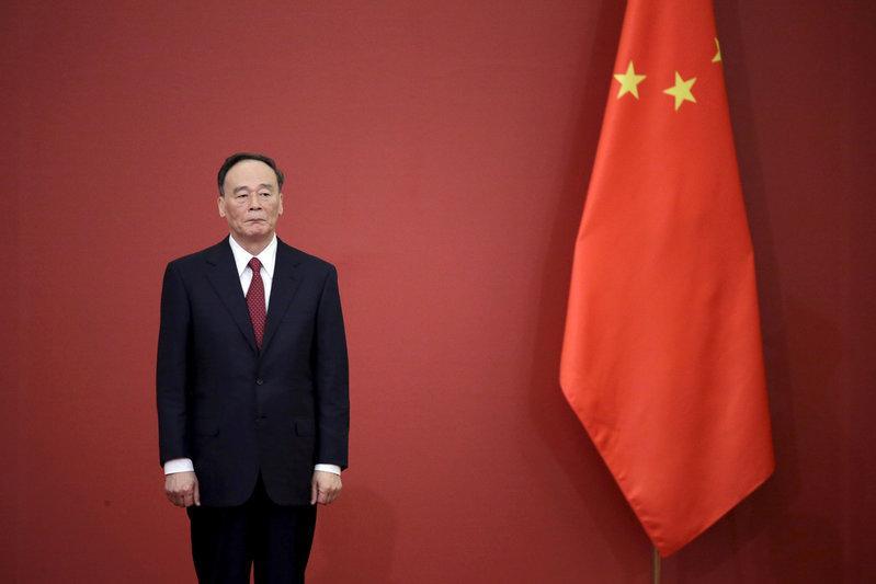 中國國家副主席王岐山妻子的姪子持有海航大量的股份。圖片來源:Jason Lee/Reuters