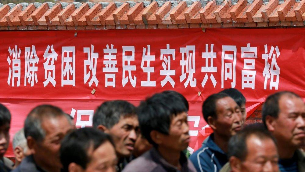 習近平十九大上宣布,中國要在2020年全面脫貧。圖片來源:視覺中國
