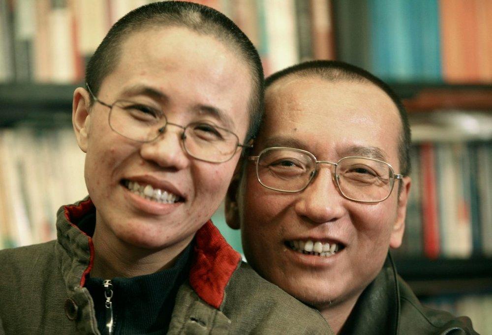 劉曉波和劉霞鶼鰈情深。圖片來源:Reuters