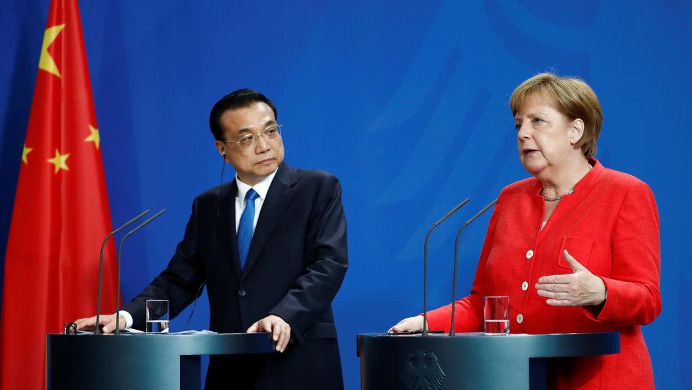 中國總理李克強赴德與梅克爾會面。圖片來源:Reuters