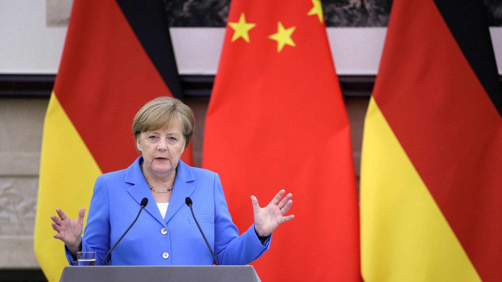 中國欲拉攏德國對美展開貿易戰。圖片來源:中國環球電視網