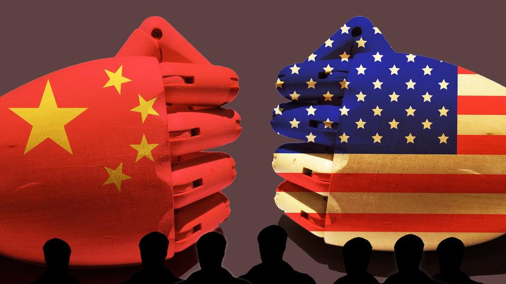 美中貿易大戰,釀中國股匯市重挫。圖片來源:中國環球電視網
