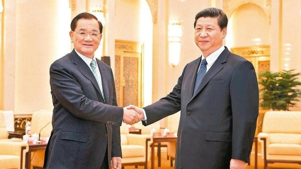 前副總統連戰與中國國家主席習近平擬再會面。圖片來源:中國新聞社