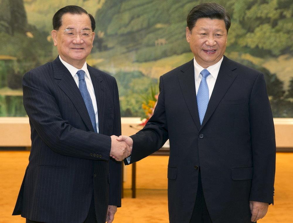 連戰四度與習近平會面。圖片來源:Reuters