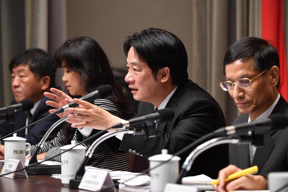 賴清德表示,會視家長送托的場所,有不同的補助金額。圖片來源:中華民國行政院/Facebook