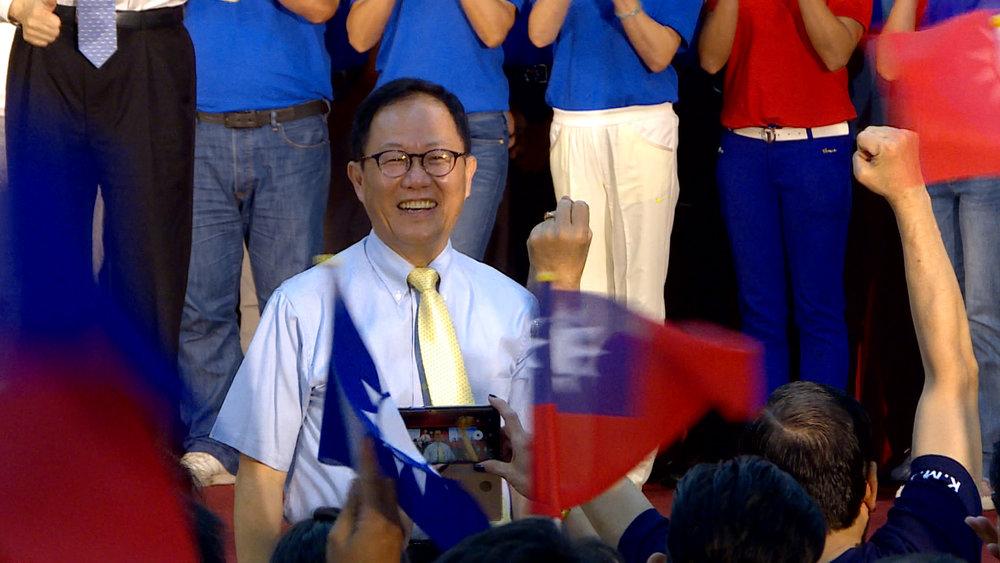 國民黨台北市長參選人丁守中坦承,他和共青團交往密切。圖片提供:民視新聞