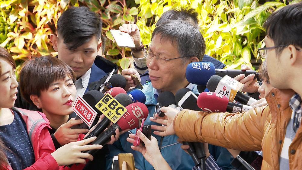 台北市長柯文哲深陷施壓媒體記者風波。圖片提供:民視新聞
