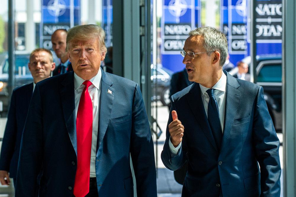 美國總統川普痛批,中國留學生都是間諜。圖片來源:NATO