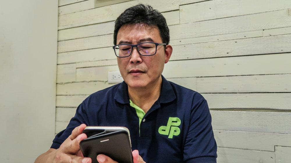 民進黨台北市長參選人姚文智保證,過去從沒有壓新聞。攝:周子愉/讀報
