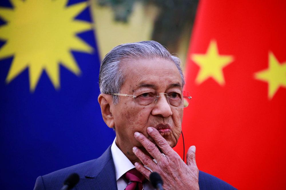 馬國總理馬哈地宣布取消前朝與中國合作的一帶一路建設。圖片來源:Reuters