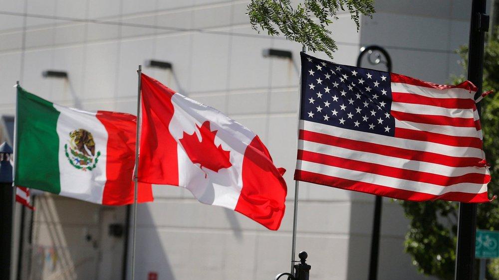 美國確定與墨西哥和加拿大達成自由貿易協定。圖片來源:中國環球電視網