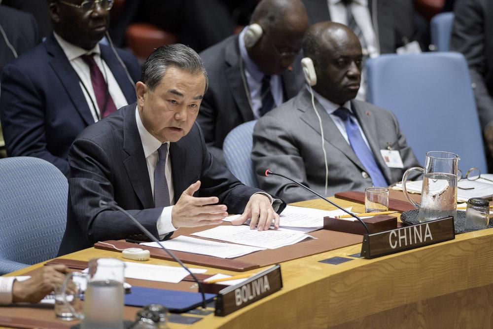 中國外長王毅主張,羅興亞議題是複雜歷史問題,不應複雜化、擴大化、國際化。攝:Manuel Elias/UN Photo