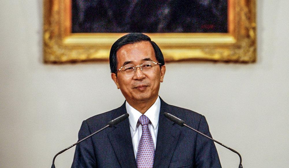 前總統陳水扁抗議完全執政的民進黨政府,不讓他參與雙十節。圖片來源:Reuters