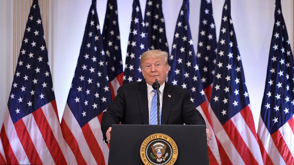 美國總統川普改口,認為氣候變遷不確定是不是人為造成。圖片來源:中國環球電視網