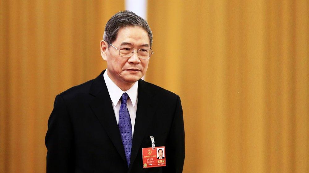 前國台辦主任張志軍被封為台企聯名譽會長。圖片來源:中國環球電視網