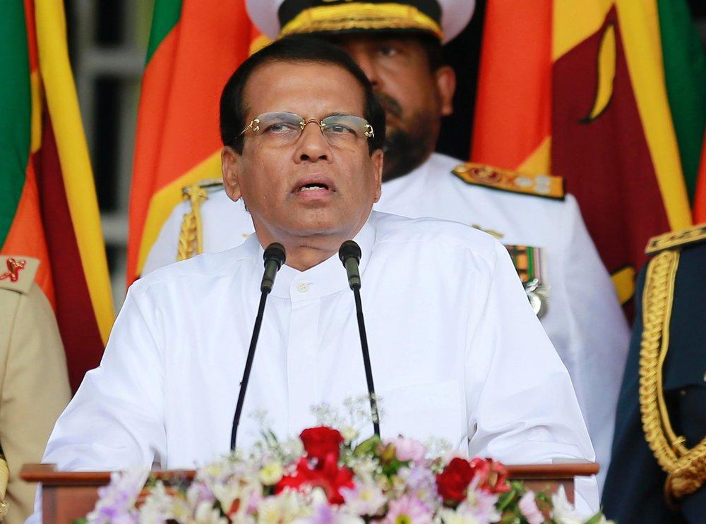 斯里蘭卡親中總統宣布解除總理職務,引發國會強烈反彈。圖片來源:中國環球電視網