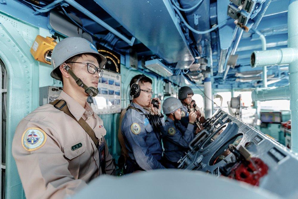 海巡署宣布要讓太平島上的駐軍,進行為期3天的實彈軍演。圖片來源:中華民國國防部