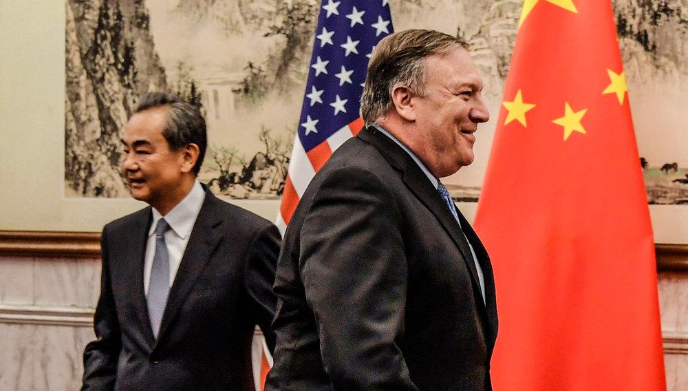 美國國務卿龐皮歐抗議中國屢次竊取智慧財產權。圖片來源:Getty Images