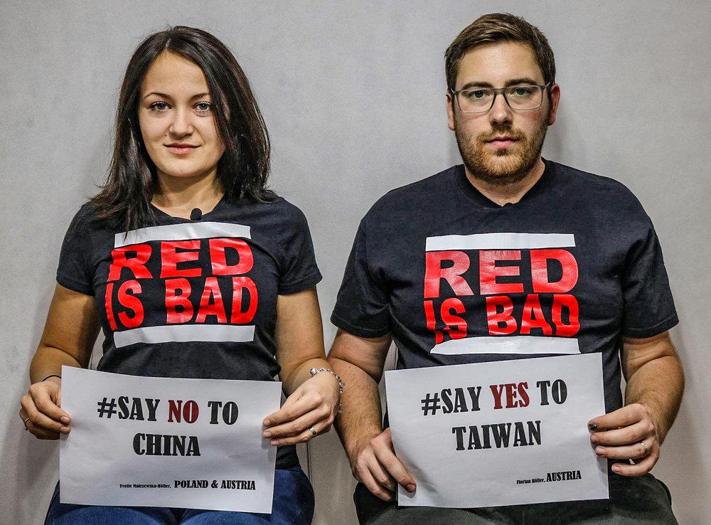 各國民眾透過網路響應「Say Yes to Taiwan」活動。圖片來源:idź Pod Prąd