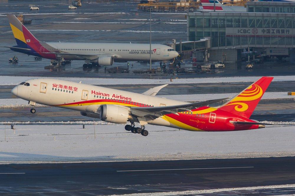 中國民航局2016年同意海南航空在內的5家航空公司,招聘台灣飛行員。圖片來源:中國環球電視網