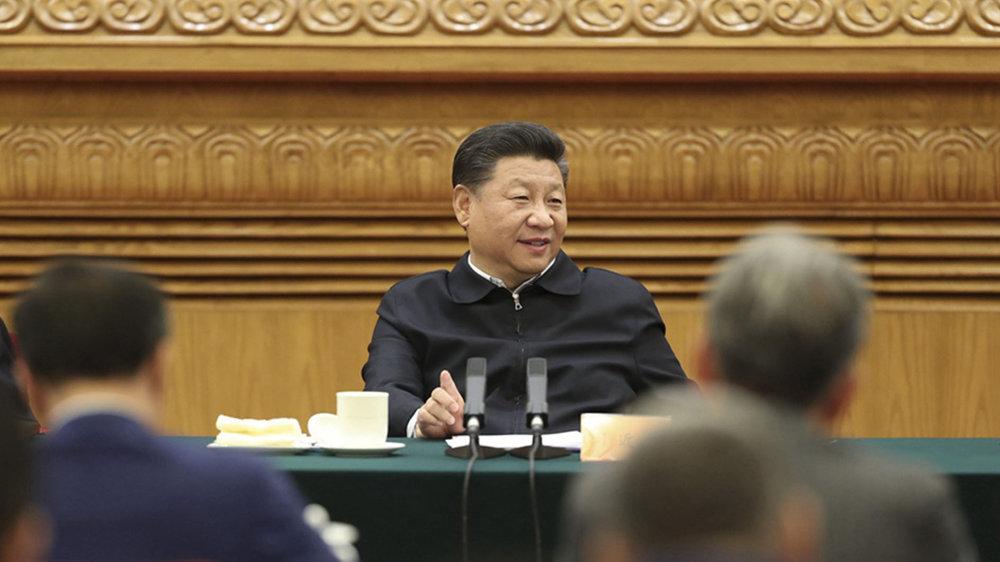 習近平終於承認,中國目前經濟正在衰退。圖片來源:中國環球電視網