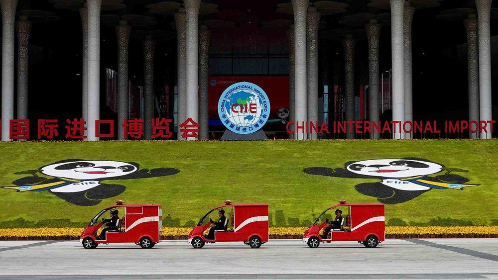 中國第一屆國際進口博覽會。舉辦圖片來源:中國環球電視網