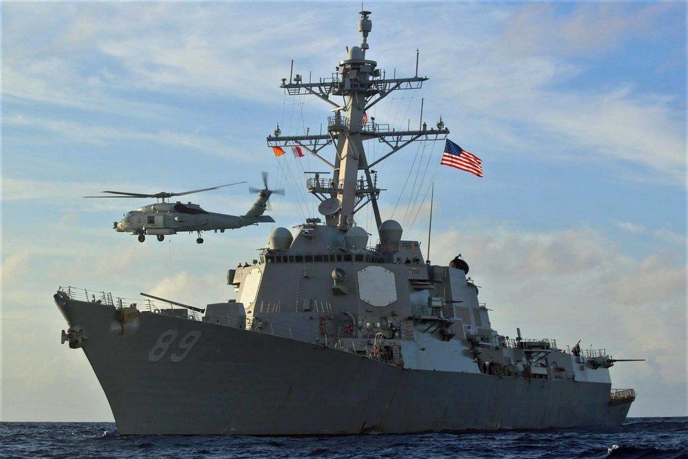 美艦是否在航行南海過程,是否停靠台灣的太平島,引發各方揣測。圖片來源:U.S. Pacific Fleet