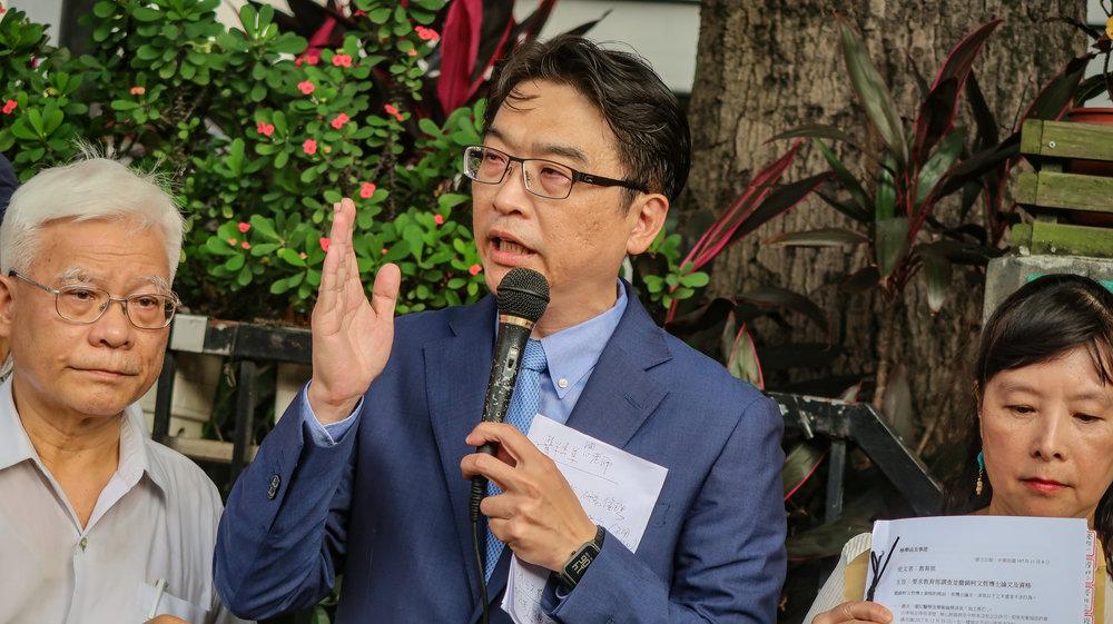 博仁醫院心臟外科主任蘇上豪怒轟柯文哲「嚴重違反研究倫理」。攝:周子愉/讀報