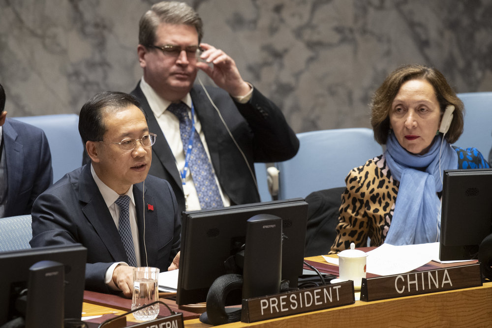 中國官方製作其國內的「人權報告」,在聯合國人權理事會獲120多個國家贊成而通過。攝:Eskinder Debebe/UN Photo