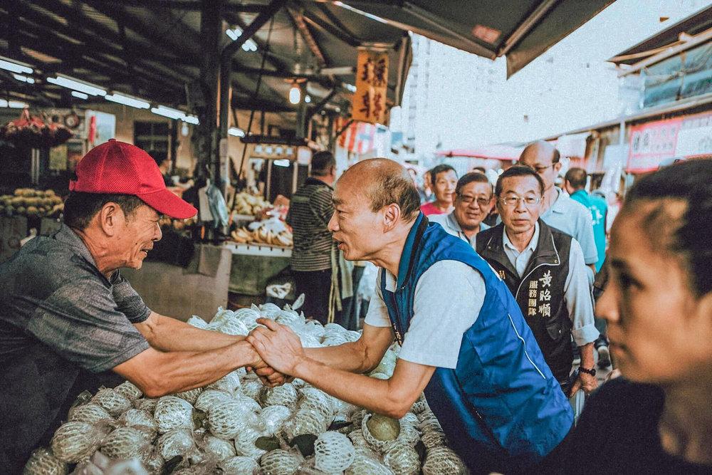 國民黨高雄市長韓國瑜網路人氣居高不下。圖片來源:韓國瑜
