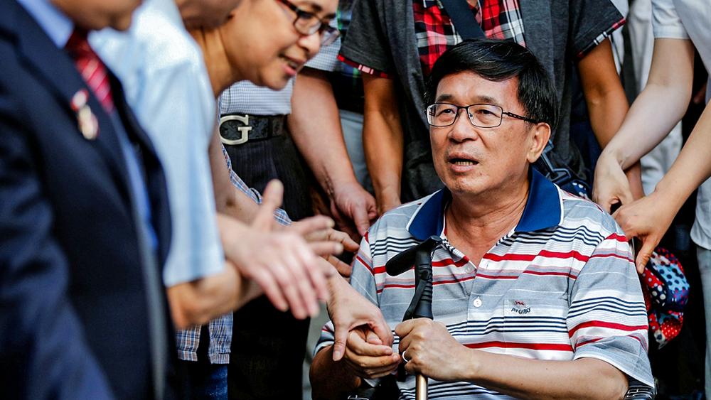 前總統陳水扁預言九合一結果,如今看來幾乎成真。攝:Tyrone Siu/Reuters