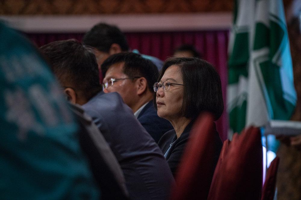 蔡英文在九合一大選前,召集獨派人士閉門痛罵喜樂島聯盟。圖片來源:中華民國總統府/Flickr