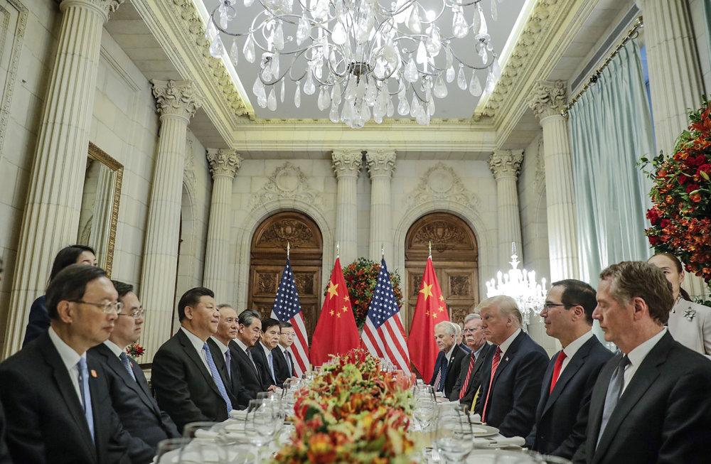 川普和習近平達成停戰90天貿易戰協議。攝:Pablo Martinez Monsivais/Associated Press