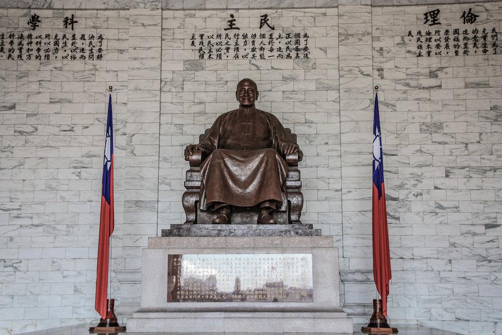 促轉會決議要求國軍撤除各營區的蔣介石銅像。圖片來源:維基共享資源