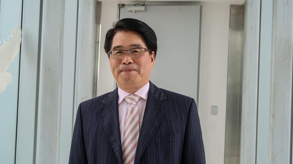 台灣民意基金會董事長游盈隆參選民進黨主席。攝:周子愉/讀報