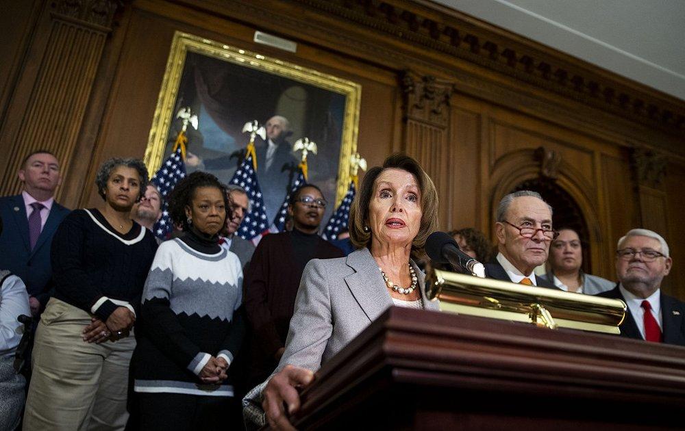 眾議院議長裴洛西反對川普宣布讓美國進入緊急狀態。圖片來源:視覺中國