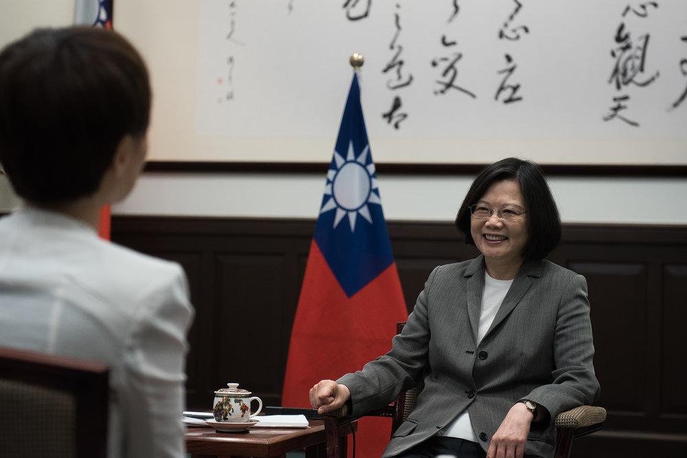 總統蔡英文接受美國有線電視新聞網(CNN)專訪。圖片來源:中華民國總統府/Flickr