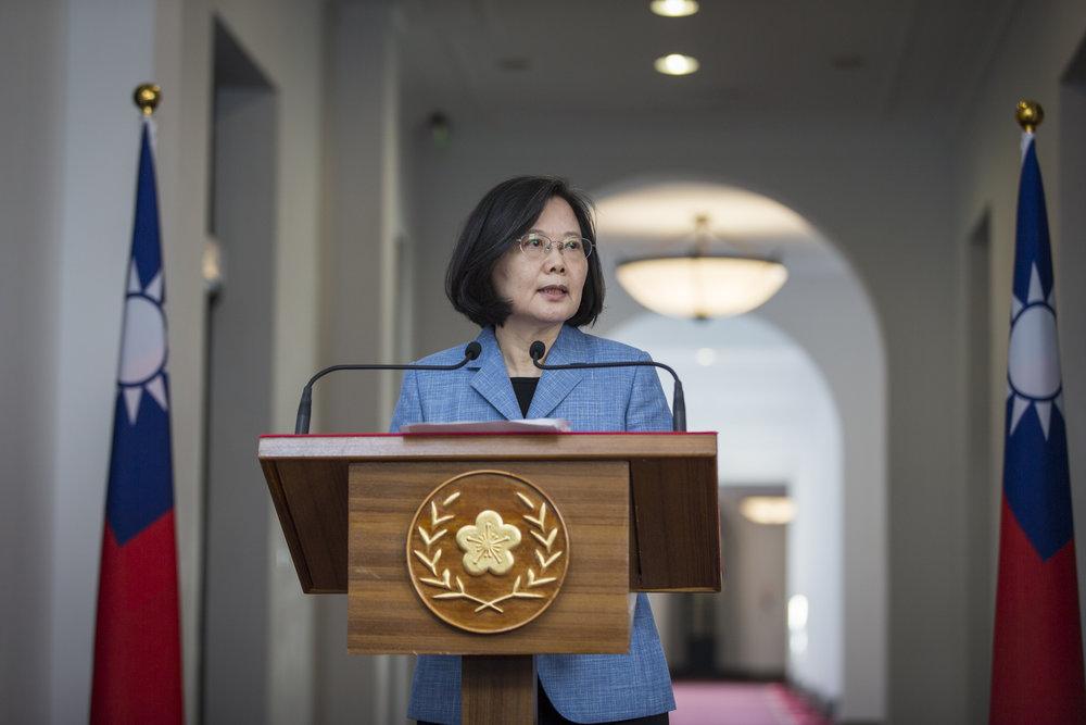 總統蔡英文接受CNN專訪時透露,她將參選2020總統大選。圖片來源:中華民國總統府/Flickr