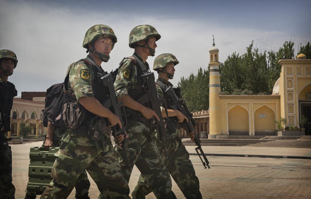 《華郵》踢爆中國正將解放軍放入中亞國家。攝:Kevin Frayer/Getty Images